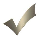 tiquetaque do ouro 3d Foto de Stock