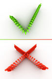 Tiquetaque e cruz Imagens de Stock
