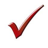 Tiquetaque vermelho Fotografia de Stock