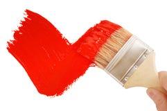 Tiquetaque vermelho de pintura Fotos de Stock Royalty Free