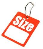 Étiquette blanc de taille Photographie stock