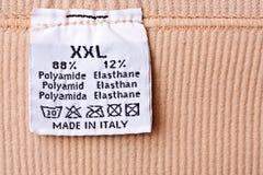 Étiquette d'habillement Photo libre de droits