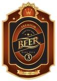 Étiquette de bière Photographie stock