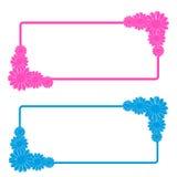 Étiquette de fleurs sur le fond blanc Photographie stock libre de droits
