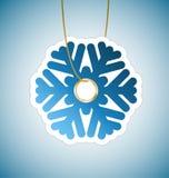 Étiquette de flocon de neige Image stock
