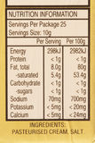 étiquette de l'information alimentaire Photographie stock
