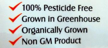 Étiquette de nutrition de nourriture, champignon de couche Photo libre de droits