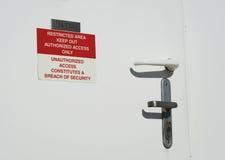 Étiquette de zone restreinte Images libres de droits