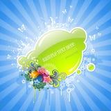 Étiquette florale mignonne Photo libre de droits
