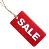 Étiquette rouge de vente Photos stock