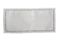 Étiquette texturisée blanc. Image stock