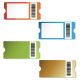Étiquettes d'achats de vecteur Photographie stock libre de droits