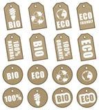 Étiquettes d'Eco Photographie stock