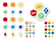 Étiquettes d'étoile Images libres de droits