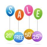 Étiquettes de ballon de vente Photographie stock libre de droits
