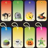 Étiquettes de cadeau de Veille de la toussaint Image libre de droits