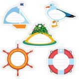 Étiquettes de cadeau de voyage en mer Photographie stock libre de droits