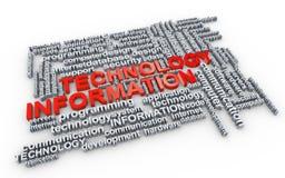 Étiquettes de mot de technologie informatique  Photos libres de droits