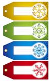 Étiquettes de Noël,   Image stock