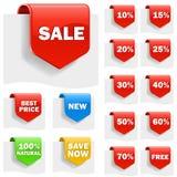 Étiquettes de vente Images libres de droits