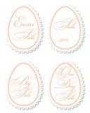 Étiquettes de vente de Pâques Images stock