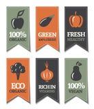Étiquettes organiques Images stock
