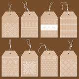 Étiquettes ou labels de Noël Image stock