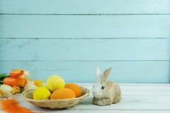 Tiré du concept heureux de fond de vacances de Pâques de décoration images libres de droits