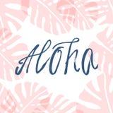 Tiré par la main Aloha Photo stock
