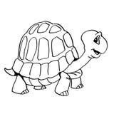 Tiré par la main une illustration de bande-vecteur de tortue illustration de vecteur