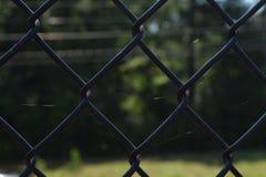 Tir étroit de barrière noire Photographie stock