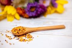 Tir étroit de cuillère avec le pollen Image libre de droits