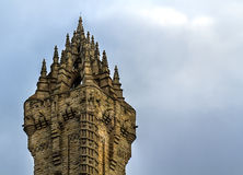 Tir étroit de Wallace Monument à Stirling Image stock