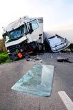tir ατυχήματος στοκ εικόνα με δικαίωμα ελεύθερης χρήσης