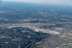 Tir aérien d'un airpoer à Manchester image libre de droits