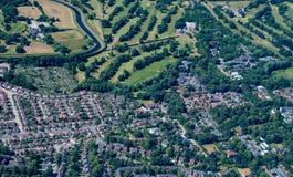 Tir aérien de campagne anglaise photo libre de droits