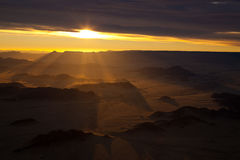 Tir aérien de désert de Namib - Sossusvlei - Namibie Images stock
