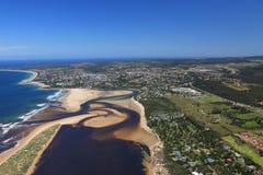 Tir aérien de Knysna dans l'itinéraire de jardin, Afrique du Sud Photo stock