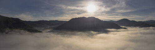 Tir aérien de région de Tanggamus Photo libre de droits