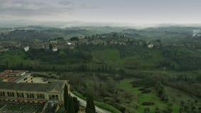 Tir aérien du paysage de la Toscane l'Italie clips vidéos