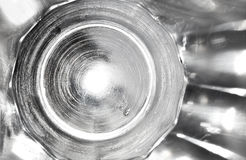 Tir abstrait de la texture en verre Image stock
