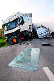 TIR accident Royalty Free Stock Image