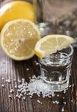 Tir argenté de tequila macro images libres de droits