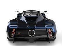 Tir arrière automobile de plan rapproché de sports superbes de luxe impressionnants bleus métalliques illustration libre de droits
