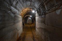 Tir d'angle de passage de mine souterraine Photographie stock
