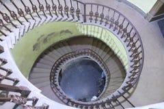 Tir d'escalier en spirale à partir de dessus image stock
