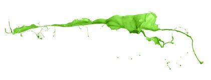Tir d'isolement d'éclaboussure verte de peinture photo libre de droits