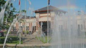 Tir de établissement statique de jour de ville hôtel de Steubenville clips vidéos
