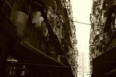 Tir de bâtiment du ` s de Hong Kong vieux A photographié les vieux bâtiments de la feinte Shui PO en Kim Shin Lane, Cheung Sha Wa Photo stock