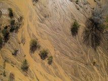 Tir de bourdon d'un lavage en San Jacinto, Ca Images stock